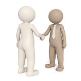 3d gentlemen shaking hands Stock Photography