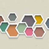 3d geometric background. With colorful hexagons Royalty Free Stock Photo
