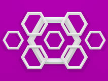 3d geometric background with hexagons Royalty Free Stock Image
