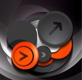 3d geometric circles design. Template stock illustration