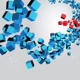 3d geometrico cuba il fondo astratto Immagine Stock Libera da Diritti