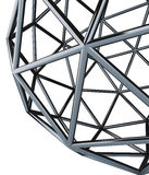 3d geosphere. 3d model geosphere chromed detail Stock Photography