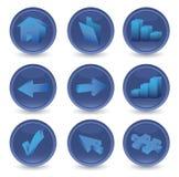 3D geplaatste pictogrammen Stock Afbeelding