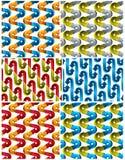 3d geplaatste pijlen naadloze patronen. Stock Foto's