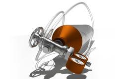 3d geproduceerde illustratie van de zuurstoftank van het Aluminium Royalty-vrije Stock Foto's