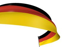 3D German flag. With fabric surface texture. White background Royalty Free Stock Images