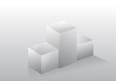 3d getrenntes Podiumbedienpultgrau Lizenzfreie Stockfotografie
