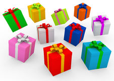 3d gift box. Isolated on white background Stock Image