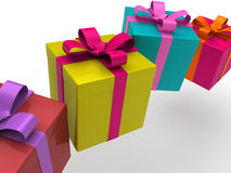 3d gift box Royalty Free Stock Photo