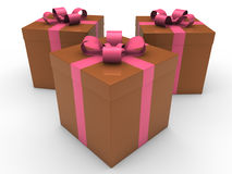 3d gift box celebration Stock Photos