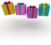 3d gift box fall Stock Photos