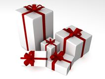 3d gift box illustration. Present 3d gift box illustration Stock Photography