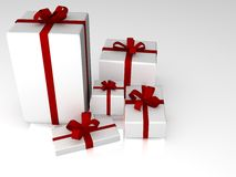 3d gift box illustration. On a white background Stock Image