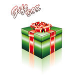 3D Gift Box with Ribbons Royalty Free Stock Photo