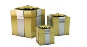 3d Gift Boxes Royalty Free Stock Image