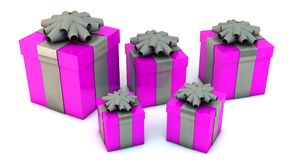 3d Gift Boxes Stock Image