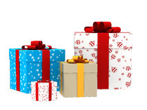 3d gift boxes Royalty Free Stock Photography