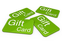 3d gift card green. Celebration greeting sale Royalty Free Stock Image