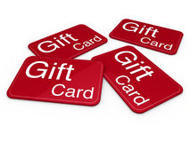 3d gift card red. Celebration greeting sale Stock Photo