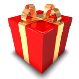 3D Gift Red Isolated Royalty Free Stock Image
