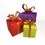 3d gifts Stock Image