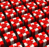 3d gifts boxs Stock Photo