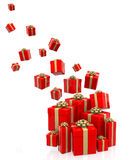 3D Gifts falling Stock Photography