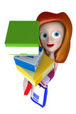 3D girl holding gifts with shopping bag. High quality 3D girl illustration Royalty Free Stock Image