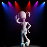 3d girl, posing on stage Stock Images