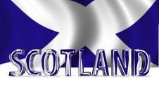 3D glänzender Schottland Text Stockfoto