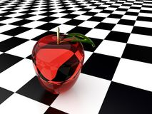 3d glass apple Royalty Free Stock Photos