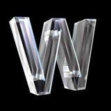 3d glass bokstav w stock illustrationer