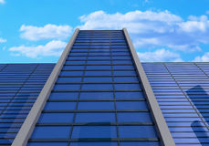 3d, glass buildings with the sky and clouds Royalty Free Stock Photo