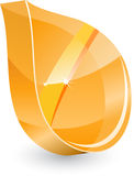 3d glass leaf Stock Image