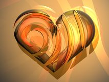 3D glass love heart Royalty Free Stock Photography