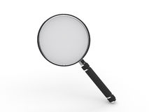 3d glass magnifying lens. Search zoom view royalty free illustration