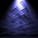 3D glass rectangles. Abstract background Stock Images