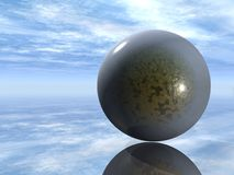 3D glass sphere Royalty Free Stock Photos