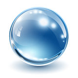 3D glass sphere Stock Images