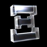 3d glass symbol xi vektor illustrationer