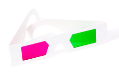 3d glasses. 3d anaglyph glasses for three dimensional movies stock image