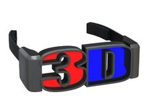 3d glasses. Isolated on white background Stock Images
