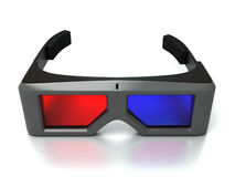 3d glasses. Front view on the white background Royalty Free Stock Images