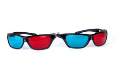 3d glasses. Isolated on white background royalty free stock photography