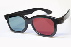 3D Glasses. Red Blue 3D Glasses isolated in White stock photos