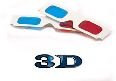 3D Glasses. A pair of 3D glasses for movies Royalty Free Stock Image