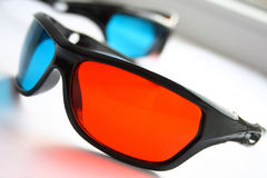 3D glasses Stock Photo