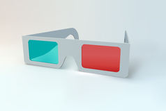 3D glasses. Royalty Free Stock Photos
