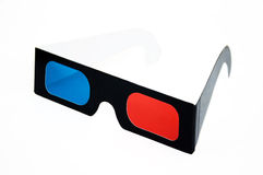 3D glasses. 3D-glasses - front viewisolated on a white background Stock Photos