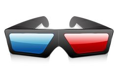 3d Glasses. Illustration of 3d glasses on white background Stock Photos